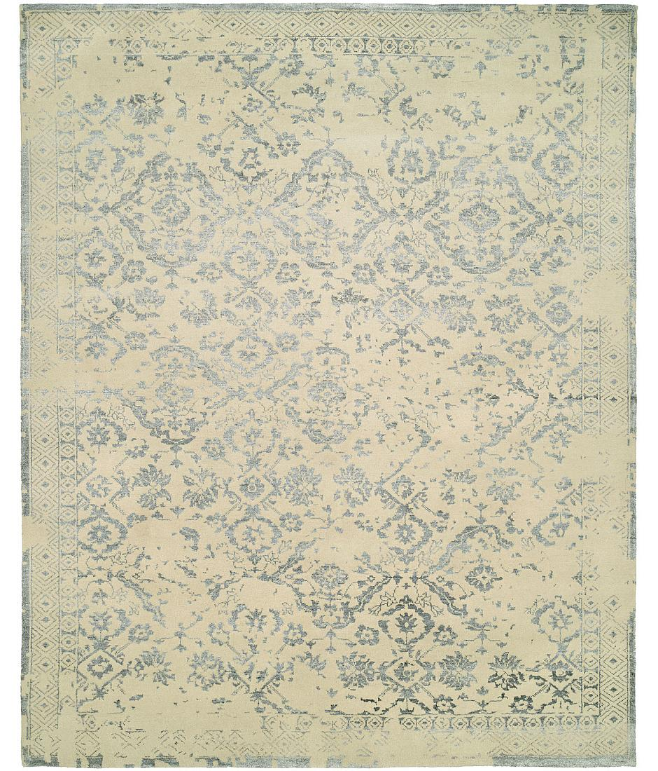 castle collection - design cs-10 - ivory - silver - hri rugs