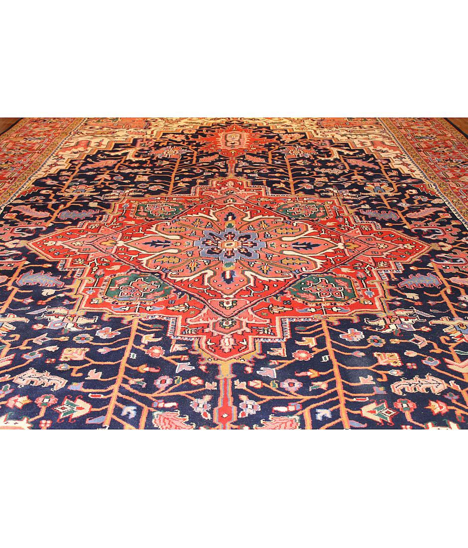 One of a kind collection design heriz 199797 navy for International decor rugs