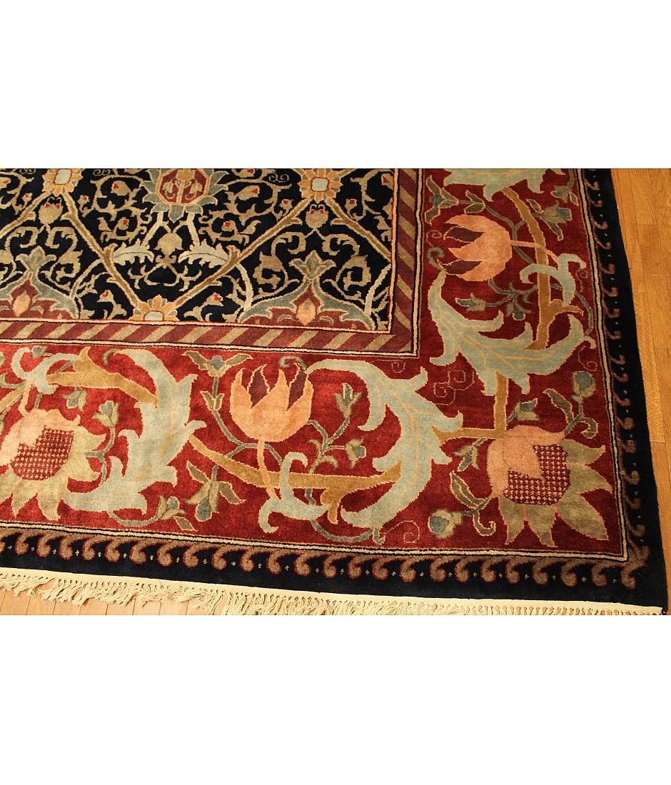 One of a kind collection design vintage 210967 blue for International decor rugs