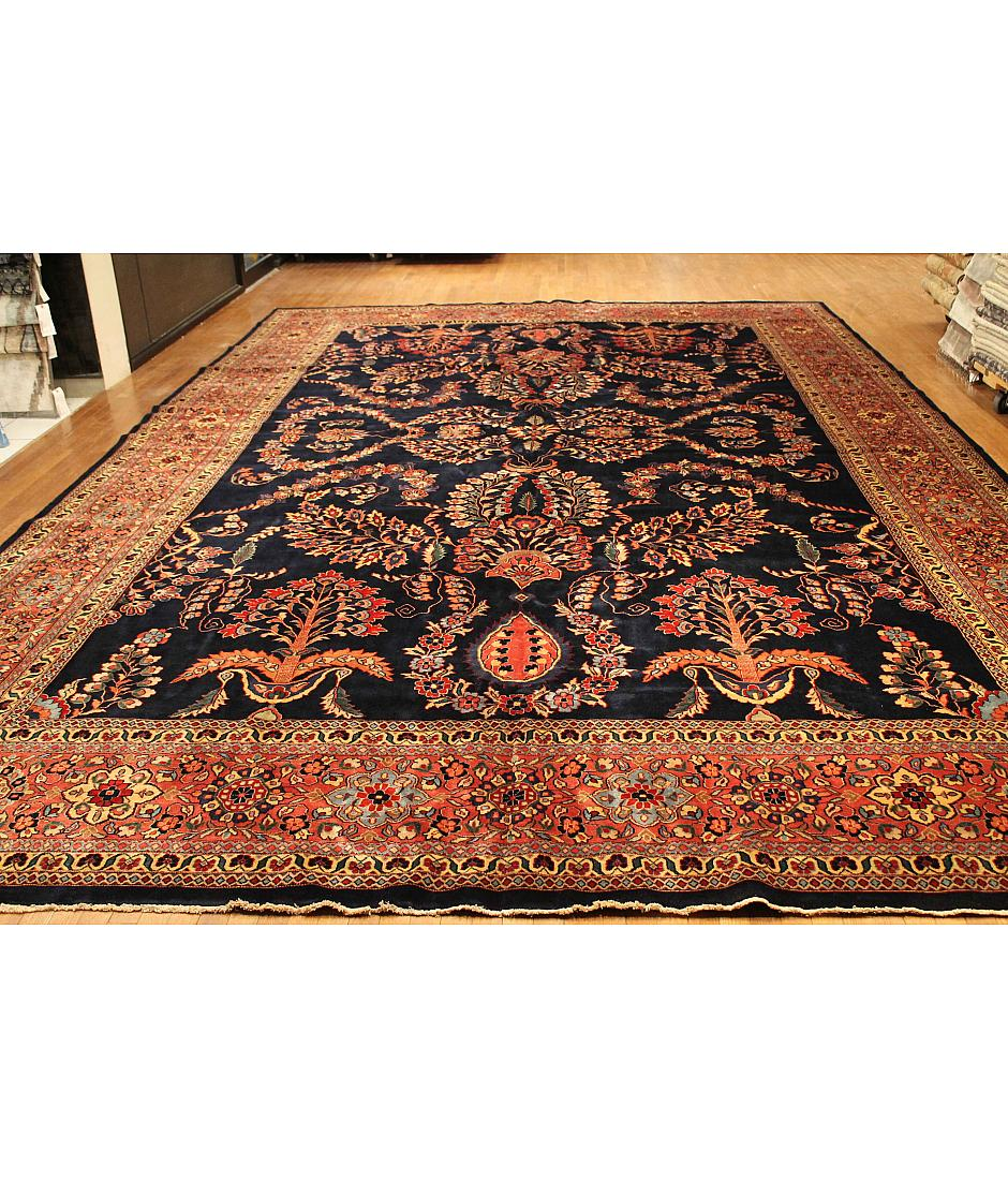 One of a kind collection design claridge 243498 blue for International decor rugs