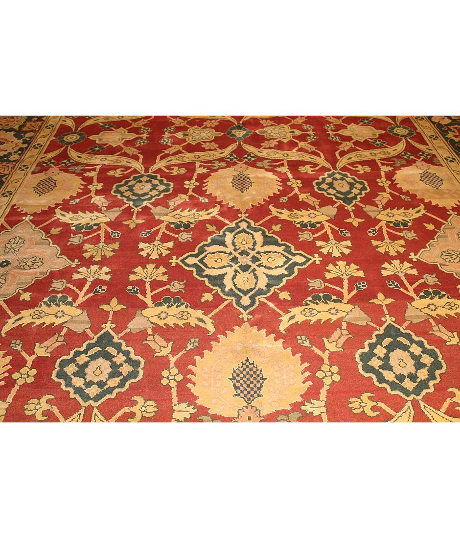 One of a kind collection design agra 257362 red for International decor rugs