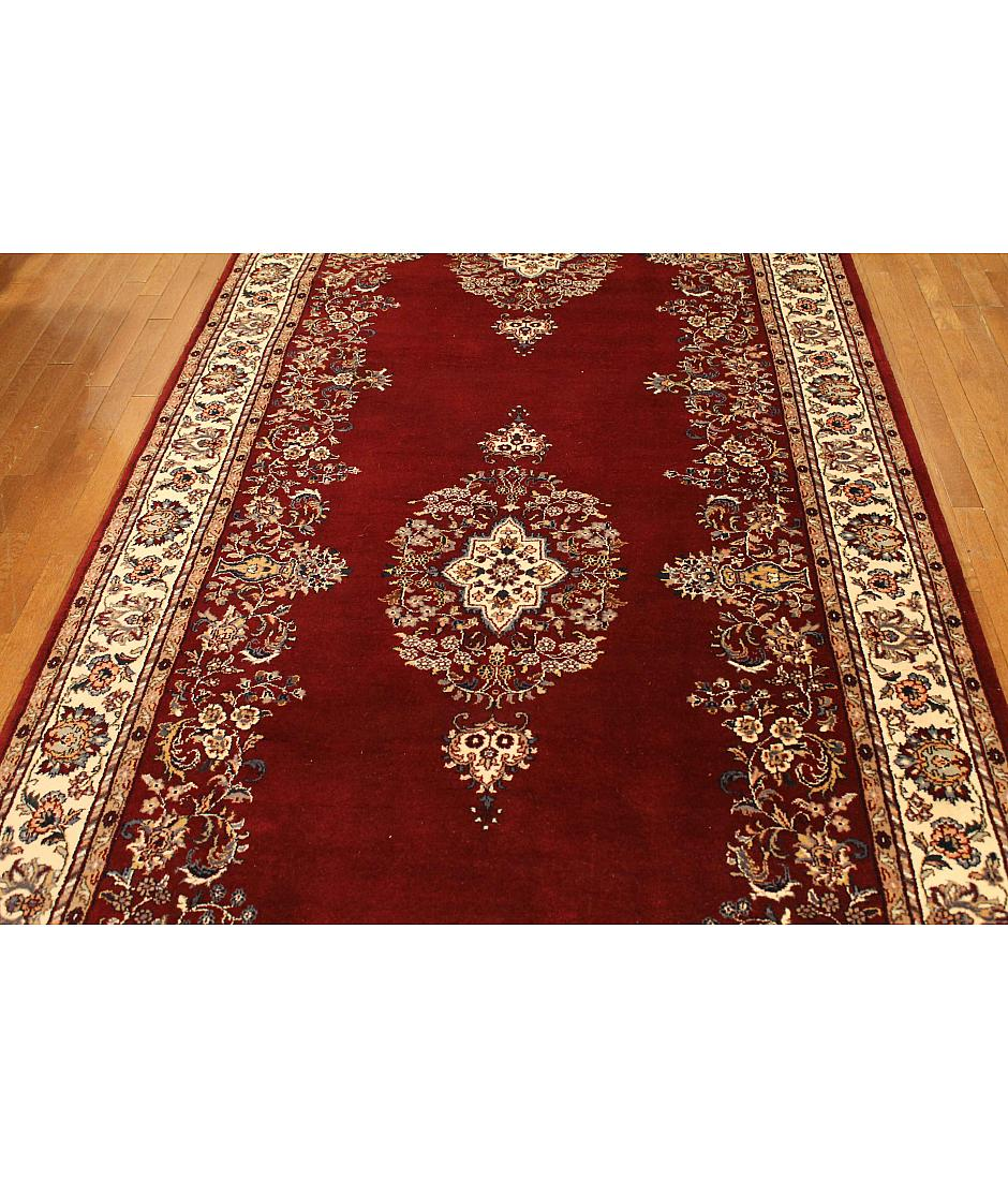 One of a kind collection design sarouk 262935 red for International decor rugs