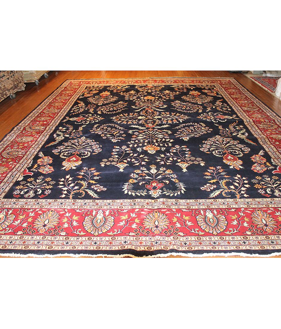One of a kind collection design claridge 418646 navy for International decor rugs