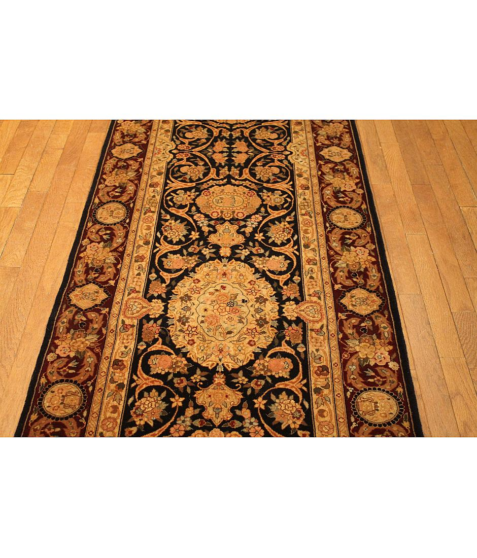 One of a kind collection design tabriz 438591 navy for International decor rugs