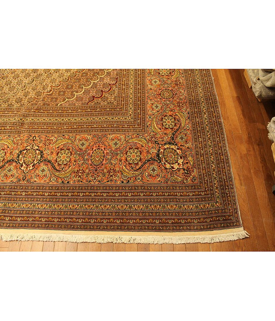 One of a kind collection design tabriz 491656 ivory for International decor rugs