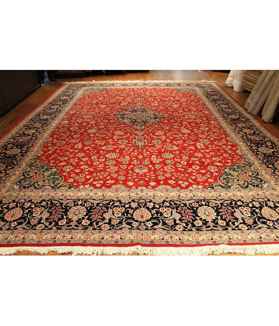 One of a kind collection design kashan 131113 red for International decor rugs
