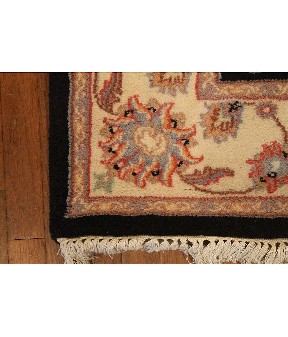 One of a kind collection design kashan z01501 navy for International decor rugs