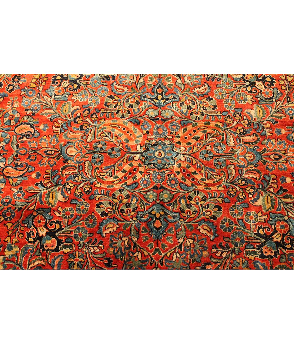 One of a kind collection design sarouk z04688 red for International decor rugs