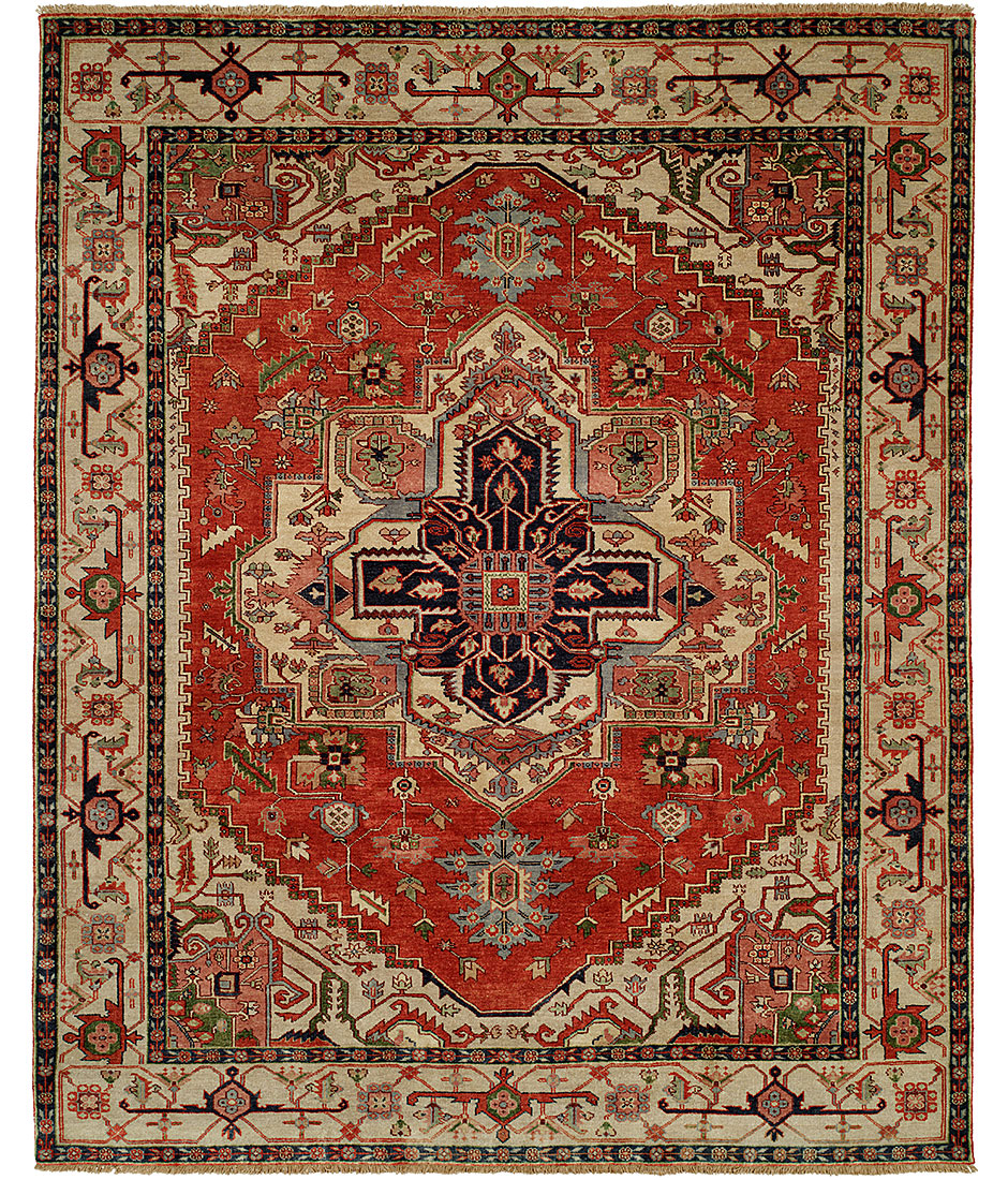 Serapi heritage collection design sh 14c red ivory for International decor rugs